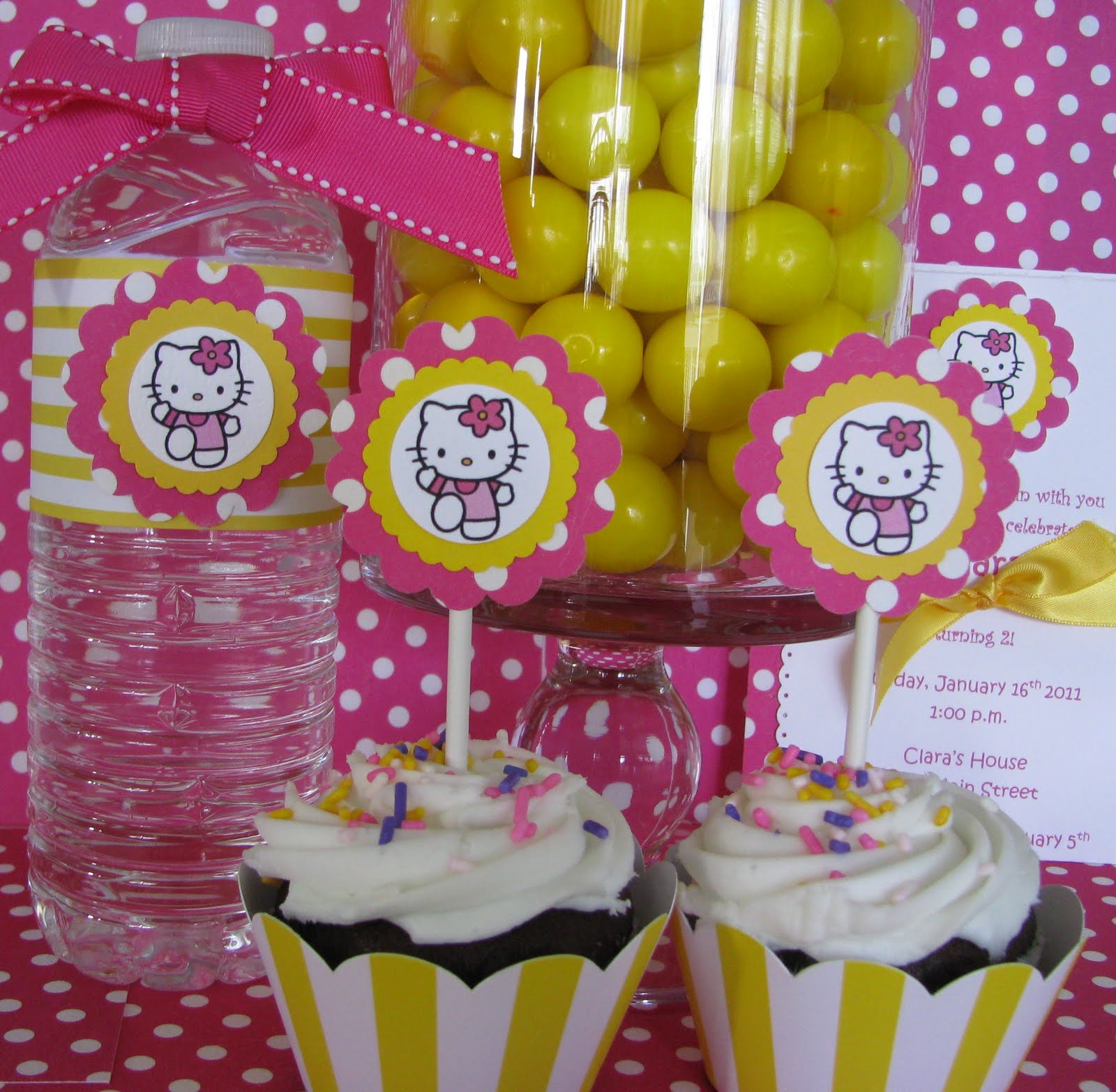 hello kitty party ideas www.printablepartyshop.com