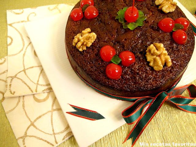Receta pastel de navidad frutas secas
