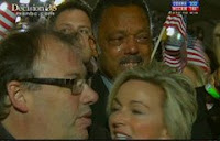 Oprah's mystery man Sam Perry with weeping Jesse Jackson