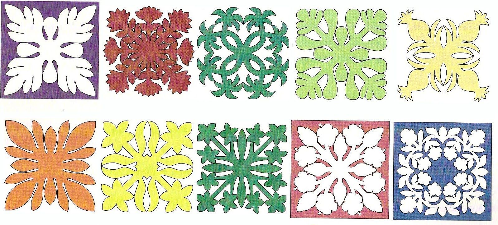 Free Hawaiian Quilt Pattern Patterns Gallery