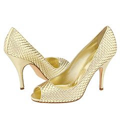 Dolce & Gabbana Golden Peep Toe Pump