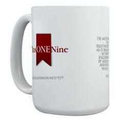 TitusOneNine mug by Kendall Harmon