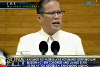 noynoy sona 2010 watch with full transcript
