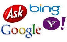 search engine list google yahoo bing ask