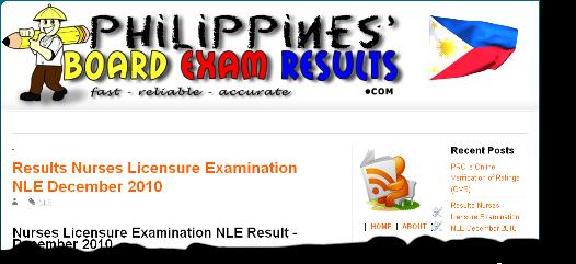 nurses board licensure examination result