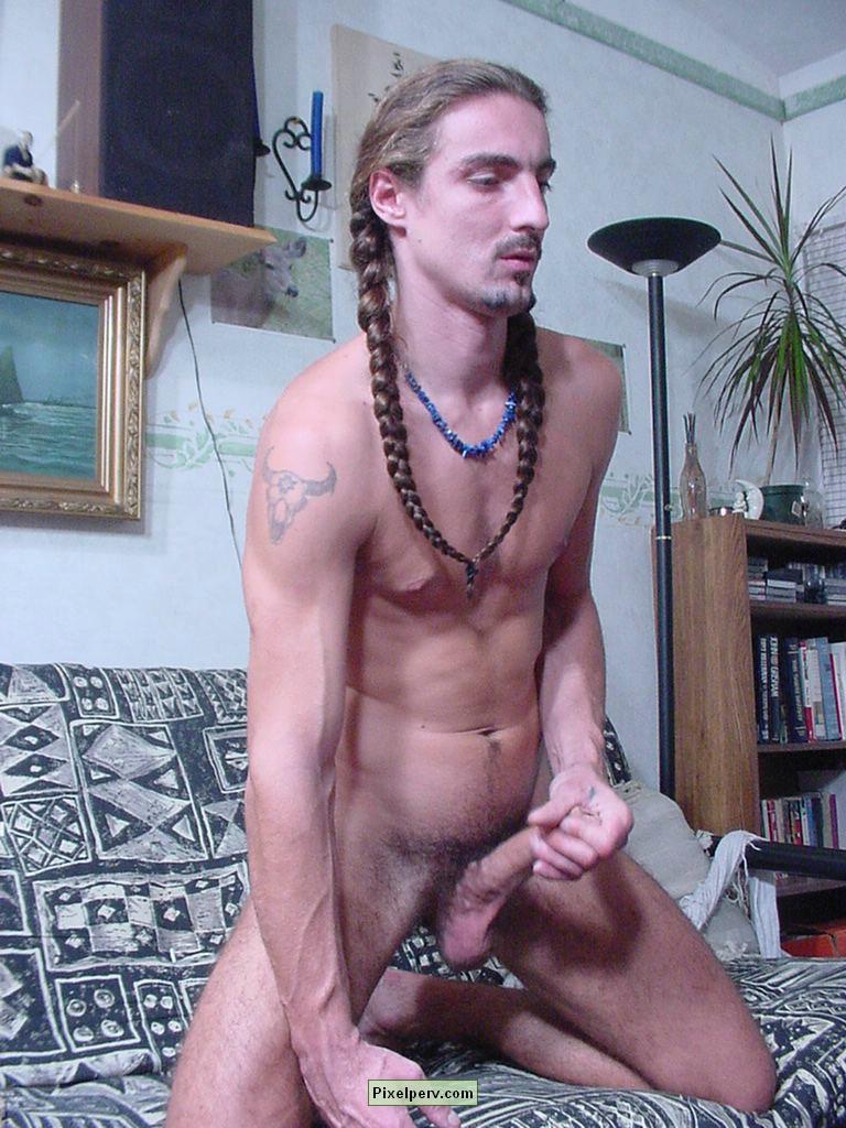 Naked Man Jerking Off