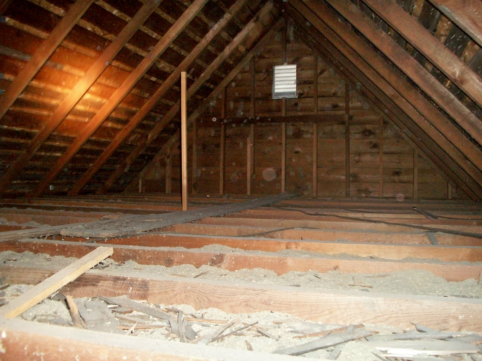 this new old house attic. this new old house