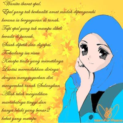 gambar untaian kata mutiara untuk wanita muslimah