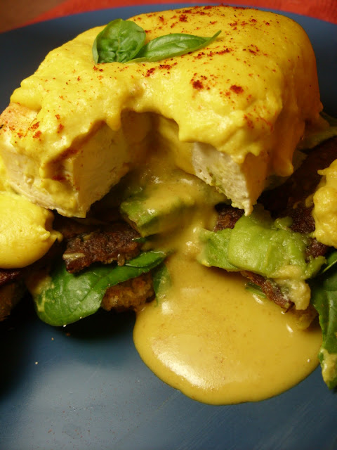 Vegan Eggs Benedict with Tofu Poached Egg