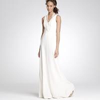 a white J. Crew wedding gown
