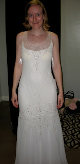 the bride in a white gown she rejected