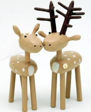 Bride and groom deer