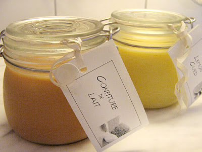 Confiture de Lait in a jar with label