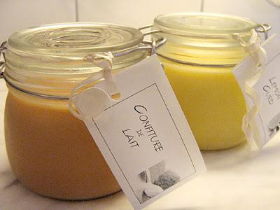 Confiture de Lait in a jar with label