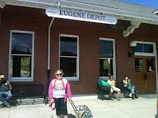 Leaving the Eugene Depot