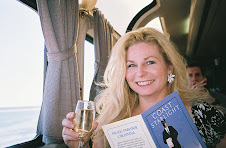 Relaxing with a glass of wine onboard