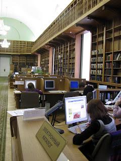 Las antiguas salas de la Biblioteca Publica de Rusia ahora se modernizan