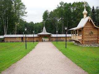 Parque Bogoslovka, arquitectura de madera tradicional rusa