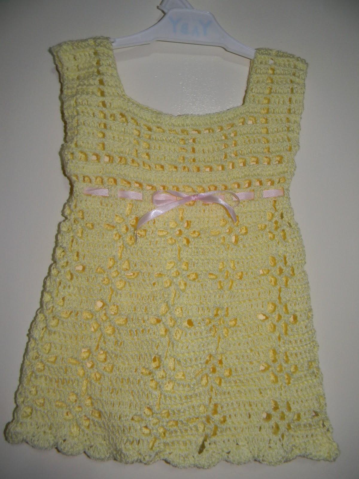 Tejidos Artesanales: Vestidos Para Bebes