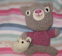 Cat and mouse amigurumi free crochet pattern