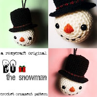 Free snowman crochet christmas decoration