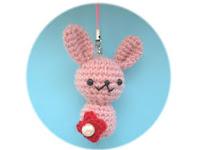 Free rabbit charm amigurumi crochet pattern