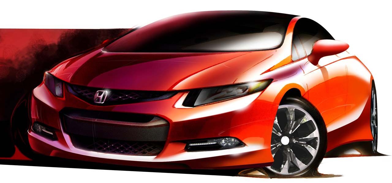 Honda Civic 2012 Detroit. 2011 HONDA CIVIC USDM sketch