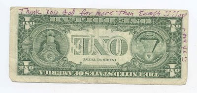 upside down dollar bill
