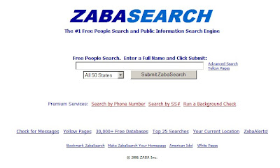 zabasearch.com Website