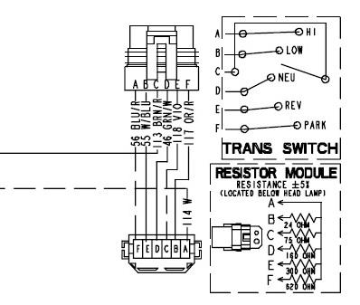 схема датчика положения КПП Polaris