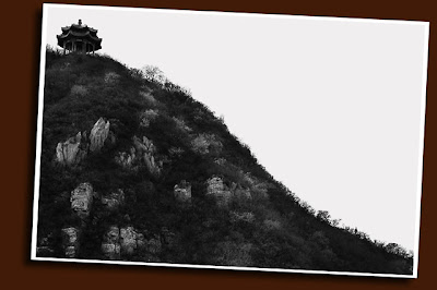 pagoda seen from the great wall