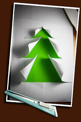 cut paper christmas tree