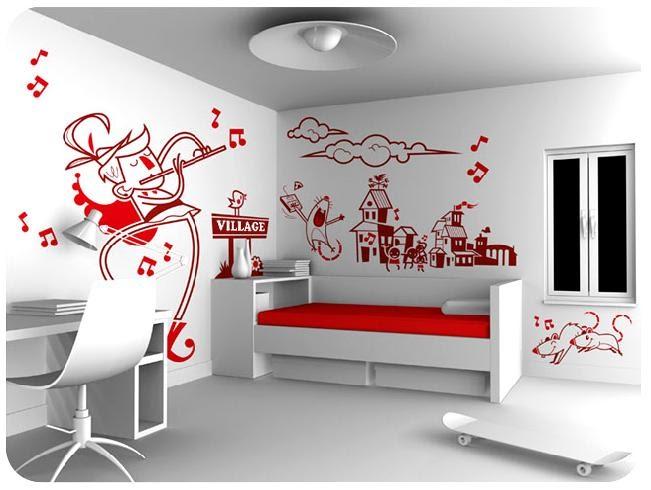 Vinilos y decoraci n dale un toque distinto a tu habitaci n for Como personalizar tu cuarto