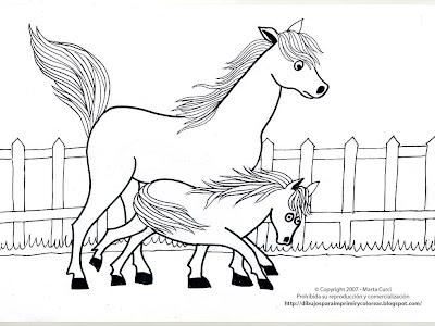 Dibujos de caballos para imprimir y colorear Dibujo+para+colorear+de+Caballos