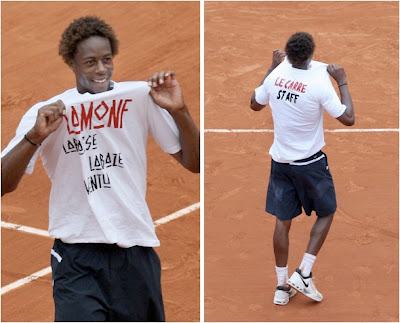 gael monfils shirtless. joins shirtless brigade