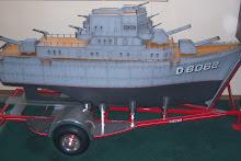 Twin trolling motor R/C Battleship