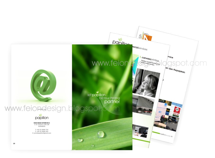 printing company profile design. Label: Company Profile