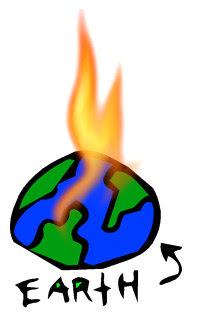 Global Warming Earth Burning