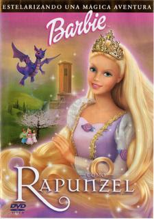 Barbie+Como+Rapunzel Colección de barbie 12 DVDs