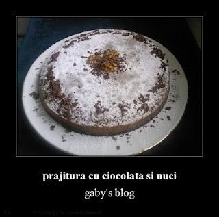 Articole culinare : prajitura cu ciocolata si nuci