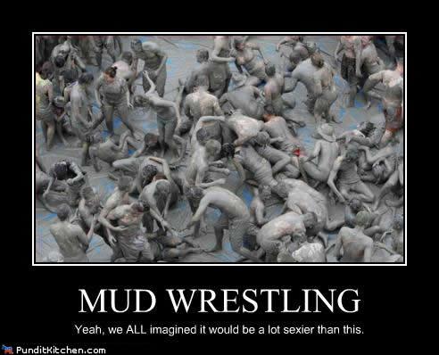Gay mud wrestlers