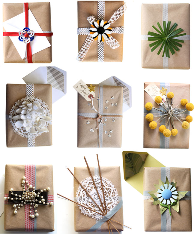 natural modern interiors 7 recycled christmas wrapping ideas