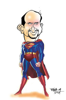 super man-caricature