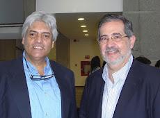 Juan Miguel Avalos y Miguel Henrique Otero durante el bautizo del libro