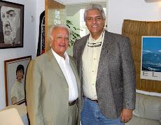 El historiador Dr. Guillermo Morón y el Profesor Juan Miguel Avalos