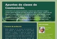 Vea este ejemplo en la UNE: BLOG Apuntes para las clases de COSMOVISIÒN