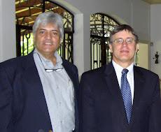 El Embajador de Canadá en Venezuela, Perry J. Calderwood, y Juan Miguel Avalos
