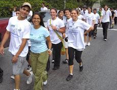 Deporte UNE 3K 2009 Prof. Marvi Salavarria, organizadora de la Caminata