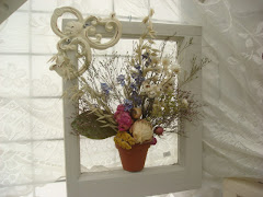 "12"" Single Window Floral Frame"