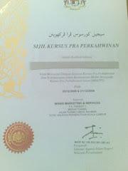 Contoh Sijil Kursus Pra-Perkahwinan Islam (MBKPPI)